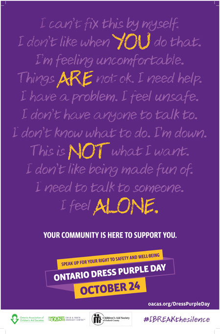 Dress Purple Day 2018 Poster